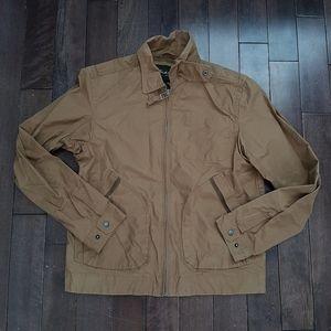 Eddie Bauer Tan Rain Jacket Size Medium